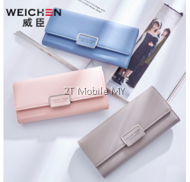 Original WeiChen Korea Fashionable Trendy Long  Women Lady Purse Wallet