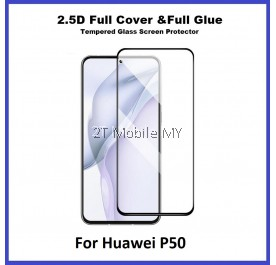Huawei P50 2.5D Full Glue Cover Tempered Glass Screen Protector