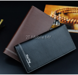 Korean Leather Men Trendy Long Wallet Bag Business Casual
