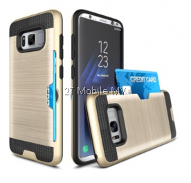 Samsung Galaxy S8 S8 Plus Bumper Case Cover Cardholder TPU Armor Card Slot