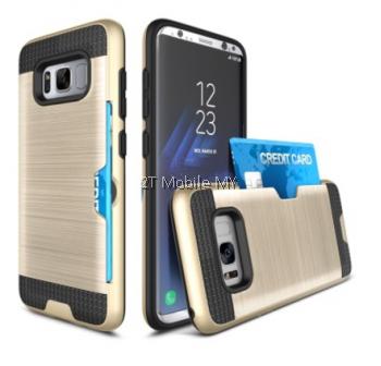 Samsung Galaxy S8 S8 Plus Bumper Case Cover Cardholder TPU Armor Card Slot