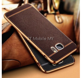 Samsung Galaxy S8 S8 Plus Leather High Quality Electroplating Edge TPU Cover