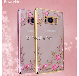 Samsung Galaxy S8 S8 Plus Secret Garden Flower Diamond TPU Case Soft Bumper Cover