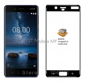 Nokia 8 Nokia 6 Full Colour Tempered Glass Screen Protector