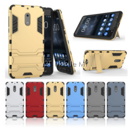 Nokia 6 5 Ironman Transformer Case with Stand Shockproof 2 in 1 Cover