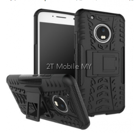 Moto G5 Plus Rugged Combo Kickstand Tough Armor Case Cover