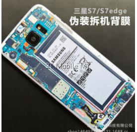 Samsung Galaxy S7 S7 Edge Custom Battery Skin Back Protector