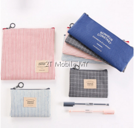 Trendy Korean Small Bag Pencil Stationery Cosmetic Bag Student 3 in 1