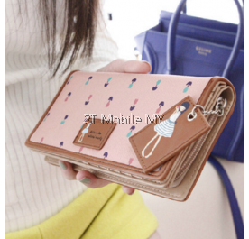Korean Cute Long Wallet Multi Component Premium Leather Case