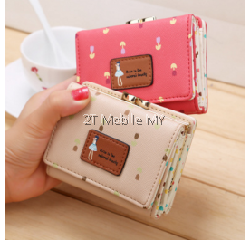 Women Short Wallet Summer Fashion Cute Bag Flower Purse