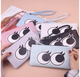 Korean Trendy Wallet Long Zipper Cartoon Cute Eye Zipper Cartoon Large Purse