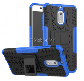 Nokia 6 Rugged Combo Kickstand Tough Armor Case Cover