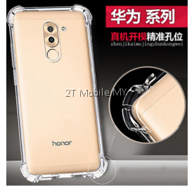 Huawei Honor 8 Pro Nova 2 Plus Transparent TPU Slim Shockproof Phone Mobile Case Bumper