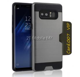 Samsung Galaxy Note 8 Bumper Case Cover Cardholder TPU Armor