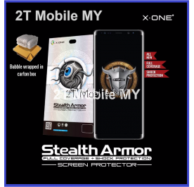 Samsung Note 8 X-One Case Friendly Seamless Stealth Armor Enhanced Screen Protector