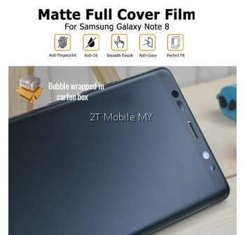 Samsung Note 8 Matte Anti-Fingerprint Full Coverage 3D Screen Protector