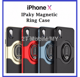 Apple IPhone X IPaky Magnetic Ring Holder Shockproof Bumper Cover Case