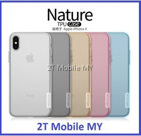 Apple IPhone X Nillkin Nature Case Slim Transparent TPU Cover Case