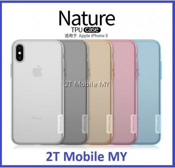 Apple IPhone X Nillkin Nature Case Slim Transparent TPU Cover Case