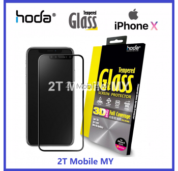 HODA 3D iPhone X Full Coverage Tempered Glass Screen Protector