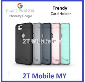 Google Pixel 2 Pixel 2 XL Bumper Case Cardholder TPU Armor Card Slot