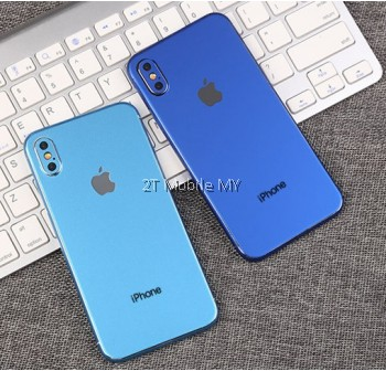 Apple Iphone X 3D Back Skin Colour Film Sticker Screen Protector