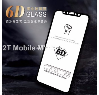 Apple Iphone X 6D Curved Edge Full Coverage Tempered Glass Screen Protector