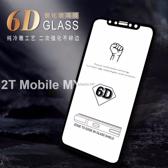 official photos 6e558 4c9aa Apple Iphone X 6D Curved Edge Full Coverage Tempered Glass Screen ...