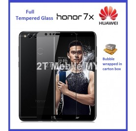 Huawei Honor 7X Full Coverage Colour Tempered Glass Screen Protector