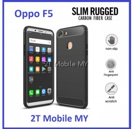 Oppo F5 Ultra Slim Protection Rugged Armor TPU Case