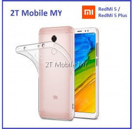 XiaoMi Redmi 5 / RedMi 5 Plus Soft Transparent Case Slim TPU Cover
