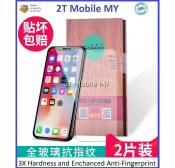Apple IPhone X Twin Pack Bonaier 2.5D Tempered Glass Screen Protector