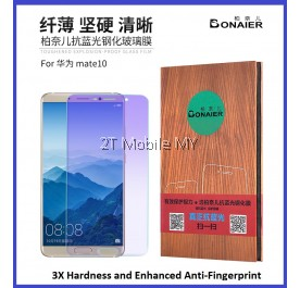 Huawei Mate 10 Anti Bluelight Twin Pack Bonaier 2.5D Tempered Glass
