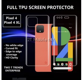 Google Pixel 4 / Pixel 4 XL / Pixel 2 XL Full Coverage Screen Protector 3D Soft Film No White Edge
