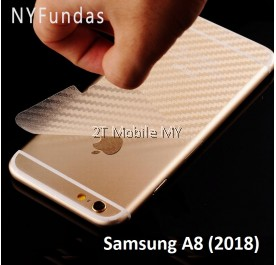 Samsung Galaxy A8 / A8 Plus 2018 Carbon Back Film Screen Protector Sticker