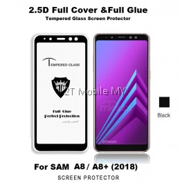 Samsung Galaxy A8 A8 Plus 2018 Full Glue Tempered Glass Screen Protector