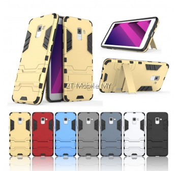 (PROMO) Samsung A8 / A8 Plus 2018 Ironman Transformer Kickstand Case Cover Bumper
