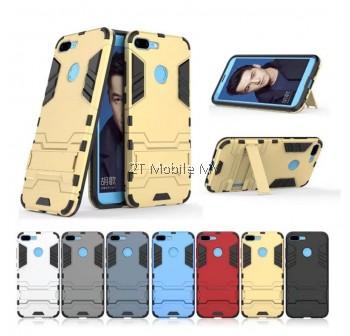 (PROMO) Huawei Honor 9 Lite Ironman Transformer Kickstand Case Bumper Cover