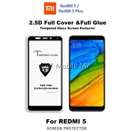 XiaoMi RedMi 5 / RedMi 5 Plus Full Glue Tempered Glass Screen Protector