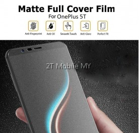 OnePlus 5T 1+5T Matte Anti-Fingerprint Full Coverage 3D Screen Protector
