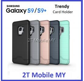 Samsung Galaxy S9 / S9 Plus Bumper Case Cardholder TPU Armor Card Slot