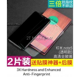 XiaoMi RedMi Note 5 Twin Pack Bonaier 2.5D Tempered Glass Screen Protector