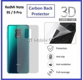 XiaoMi RedMi Note 9S / RedMi Note 9 Pro / RedMi Note 5 Back Carbon Matte Protector Anti Fingerprint
