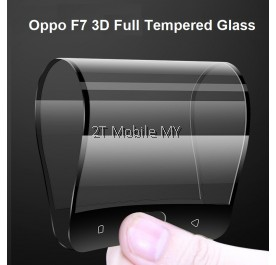Oppo F7 Full Coverage 3D Curve Soft Tempered Glass Screen Protector