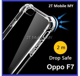 Oppo F7 Transparent TPU Shockproof Bumper Antidrop Case