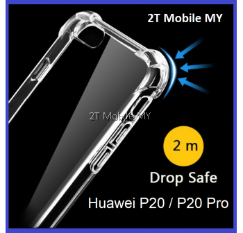 Huawei P20 / P20 Pro Transparent TPU Shockproof Bumper Antidrop Case