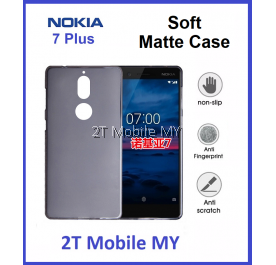 Nokia 7 Plus Soft Jacket Slim TPU Matte Case Cover Anti Fingerprint