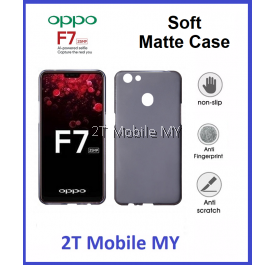 Oppo F7 Soft Jacket Slim TPU Matte Case Cover Anti Fingerprint