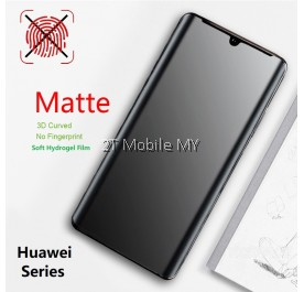 Huawei P40 Pro Plus / P40 / P40 Pro / P30 / P30 Pro / P20 + Matte Anti-Fingerprint 3D Screen Protector (Front Back)