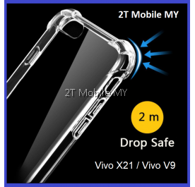 Vivo X21 Vivo V9 Transparent TPU Shockproof Bumper Antidrop Case